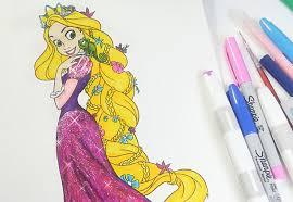 rapunzel coloring book tangled coloring pages for kids youtube