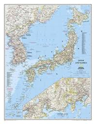 National Geographic Map Buy Japan And Korea Laminated By National Geographic Maps