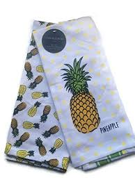 Cynthia Rowley Home Decor Cynthia Rowley Home Decor Kitchen Towels Pineapple 2 Pack