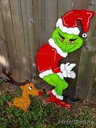 christmas grinch stealing christmas lights whoville yard