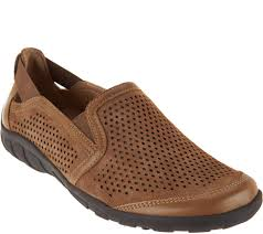 earth origins suede perforated slip on shoes ryan page 1 u2014 qvc com