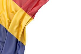 Maroon And White Flag Free Stock Photo Flag Of Romania In The Corner On White
