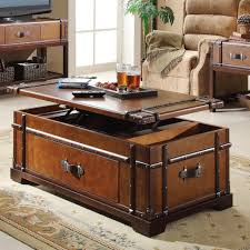 coffee table extraordinary brown rectangle modern wood steamer