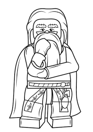 lego albus dumbledore coloring page free printable coloring pages