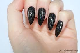 holographic stiletto nails black holographic nails fake