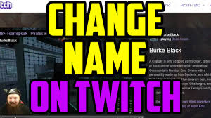 pubg name change twitch how to change your name appearance on twitch 2016
