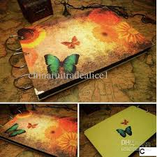 butterfly photo album vintage butterfly diy photo album scrapbook corner stickers paper