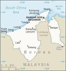 brunei map in world the world factbook central intelligence agency