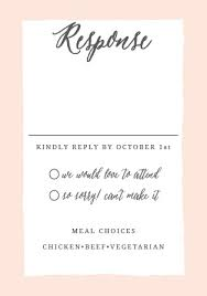response cards wedding rsvp cards match your color style free basic invite