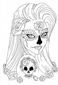 sugar skull coloring pages coloring pages adults