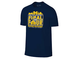 michigan wolverines fan gear michigan wolverines 2018 ncaa men s final four appearances t shirt