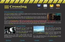 grey css dark grey yellow business css website template freethemes4all