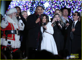 the obamas light their final christmas tree at the white house