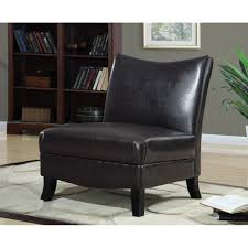 brown faux leather chair 6 dark brown leather look accent chair