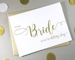 To My Bride Card Bride Gift From Groom Etsy
