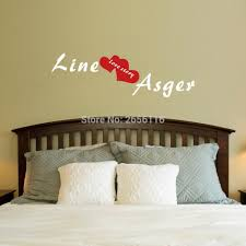 online get cheap personalised love wall decals aliexpress com custom couples name with heart personalised wall stickers love vinyl art decals for bedroom room decor