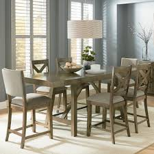 Trestle Dining Room Table Sets Standard Furniture Omaha Grey Counter Height 7 Dining Room