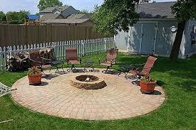 unique brick patio with fire pit 39 diy backyard fire pit ideas