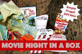 movie night in a box a simple frugal christmas gift idea