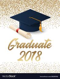 graduation poster class of 2018 graduation poster with hat and vector image