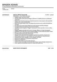 Social Media Resume Sample by Social Media Manager Resume Sample Velvet Jobs