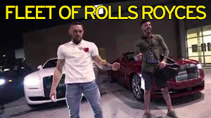 mayweather cars 2017 conor mcgregor shows off fleet of rolls royces but it is still