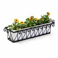 Metal Window Boxes For Plants - metal window boxes wrought iron flower boxes iron window