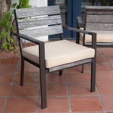 Driftwood Outdoor Furniture by Belham Living Silba Envirostone Faux Wood Patio Dining Chair