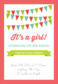 baby girl announcements hello baby girl free printable birth announcement template