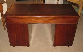 late victorian solid mahogany military campaign desk dorking