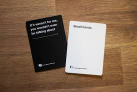cards against humanity stores against humanity is the unofficial card for tiny