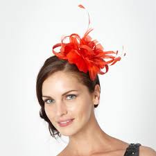 fascinators for hair designer orange floral feather headband hats fascinators