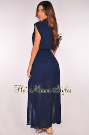 navy maxi dress navy blue button sleeveless belted maxi dress