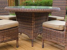 South Sea Rattan Del Ray Wicker Round Dining Table WickerCentralcom - Round dining table with wicker chairs