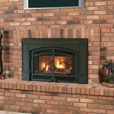 vintage masonry remodel with carolina arch fireplace glass door