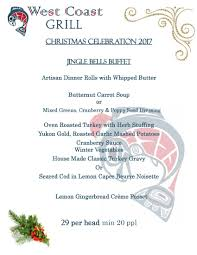 book your christmas party today west coast grill