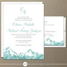 mountain wedding invitations mountain range modern wedding invitation rsvp by