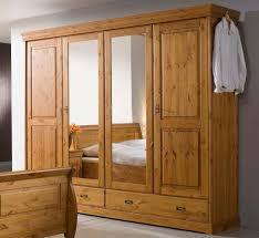 Schlafzimmerschrank Zerlegen Kleiderschrank 255x217x62cm 4 Türen 2 Schubladen Kiefer Massiv
