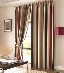 Green Striped Curtains And Yellow Striped Curtains And Orange Modern Geometric