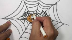 how to draw a cartoon spider video draw halloween things mat