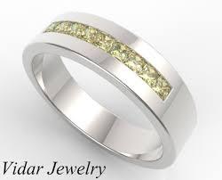 Mens Gold Diamond Wedding Rings by Fancy Yellow Diamond Wedding Band Vidar Jewelry Unique Custom