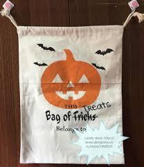 50pcs dhl new halloween sacks bag canvas personalized children