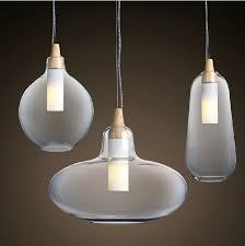 hanging glass pendant lights modern glass pendant light natural curved transparent pendant l