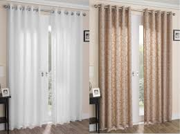 Washing Voile Curtains Venice Swirl Lined Voile Curtains Ready Made Ring Top Pairs Latte