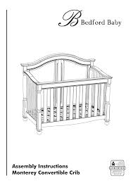 Westwood Convertible Crib Westwood Design Monterey Convertible Crib User Manual 14 Pages