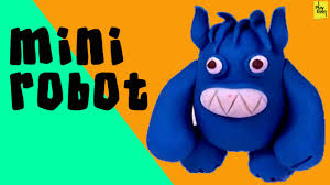 learn how to design a mini robot with clay kids clay projects