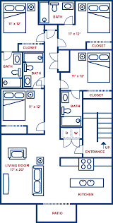 Floor Plan Flat by Elements 743 4 Bedroom Flat Collegeplacefsu Com