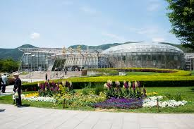 Beijing Botanical Garden Asia China Beijing Botanical Garden Exhibition Greenhouse