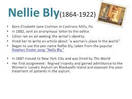Seeking Theme Song Name Nellie Bly Marguerite Higgins Ethel L Payne Ida M Tarbell March