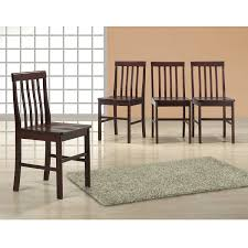 Wayfair Dining Chairs by Amazon Com Walker Edison Espresso Wood Dining Chairs Set Of 4
